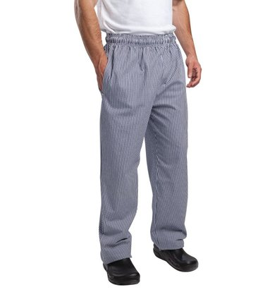 Whites Chefs Clothing Vegas Chefs Trousers Blue / White Checkered - Polyester-Cotton - Available in 6 sizes - Unisex - POPULAR!