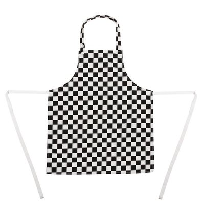 Whites Chefs Clothing Kids Apron - Black / white checkered - Unisex