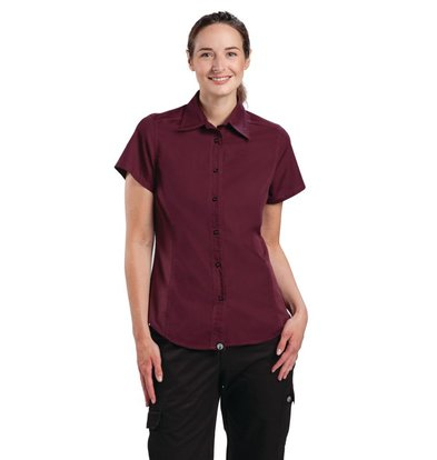 XXLselect Chef Works Cool Vent Chef Shirt - Merlot - Available in four sizes - Ladies