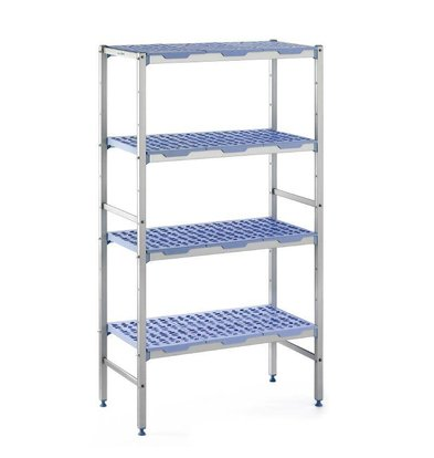 Tournus Modular stock shelves 4 shelves, line-up, 500 Deep - 6 Sizes Available