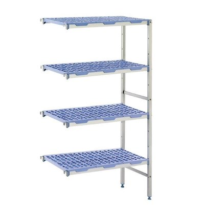 Tournus Modular stock shelves 4 shelves, corner unit, 400 Deep - 6 Sizes Available