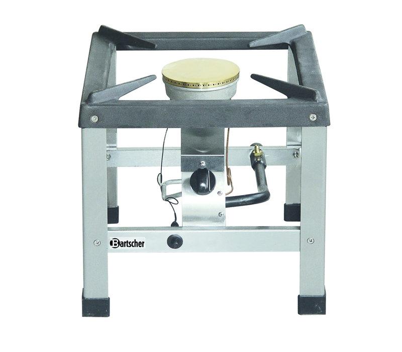 Bartscher Gas Hokker | Geschikt voor 225mm Pannen | 400x440x(H)390mm