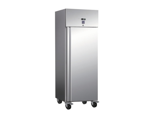 XXLselect Horeca Koelkast RVS | 600 Liter | 2/1 GN | 4 Wielen | 680x800x(H)2010mm
