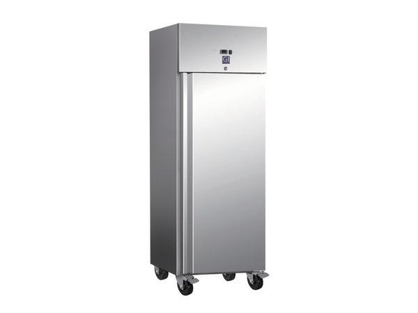 XXLselect Horeca Refrigerator stainless steel | 600 Liter | 2/1 GN | 4 Wheels | 680x800x (H) 2010mm