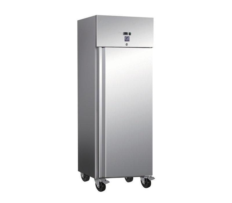 XXLselect Horeca Freezer stainless steel   600 Liter   2/1 GN   4 Wheels   680x800x (H) 2010mm