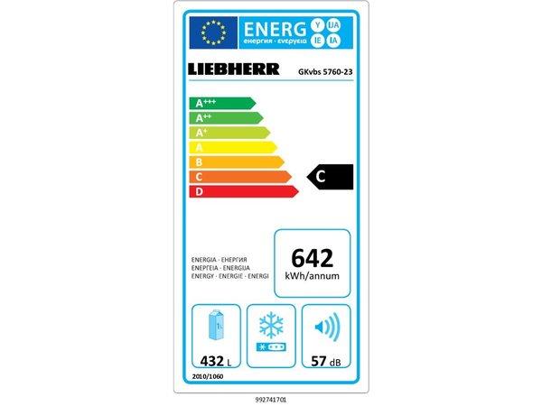 Liebherr Gastronorm Koelkast Blacksteel | GKvbs 5760-23 | 586 Liter | 750x747x(H)1864mm