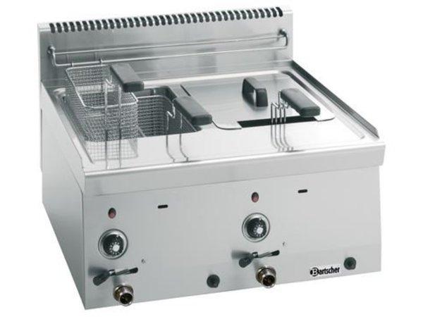 Bartscher Gas Friteuse | 2x8 Liter | Serie 600 | 13,4 kW | 600x600x(H)290mm