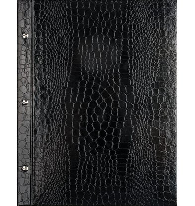 XXLselect Menukaart Library Croco - Zwart - Vierkant Model
