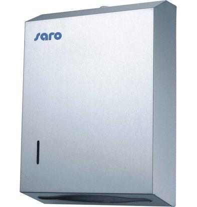 Saro Papier Dispenser RVS - 28x10x38cm
