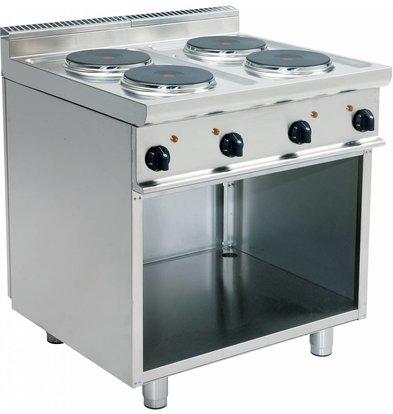 Saro Electric stove | 4 burner | Casta Open Frame | 4 x 2.6 KW | Stainless steel | 400V | 800mmx700mmx (H) 850mm