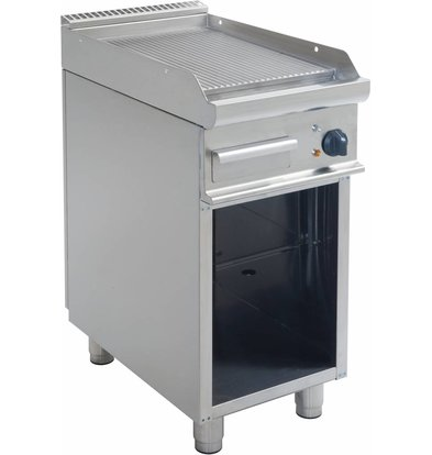 Saro Electric ribbed griddle Open Frame Casta - 40x70x (h) 85cm - 400V / 5,4kW
