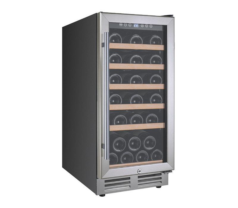 XXLselect Wijnklimaatkast Single Zone | Geschikt voor 30 Flessen | 380x585x(H)860mm