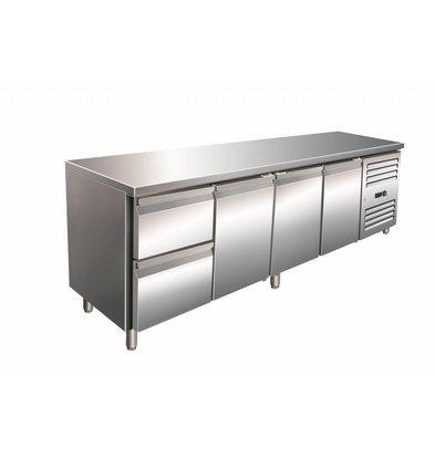 Saro Cool Workbench 3 door 2 drawers - 223x70x (h) 89-95cm
