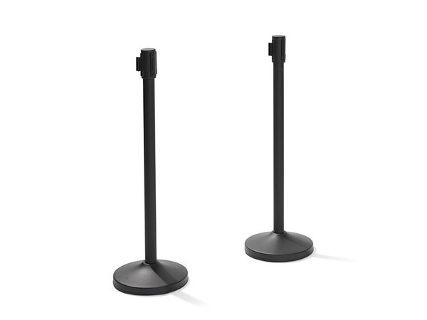 XXLselect Trendy Barrier post Black | 8 kg | 950mm High | Per 2 Barriers