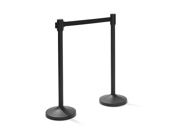 XXLselect Trendy Afzetpaal Zwart | 8 kg | 950mm Hoog | Per 2 Afzetpalen