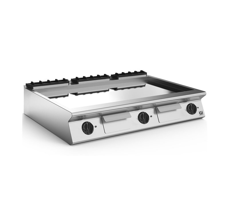 XXLselect 700 HP Elektrische Bakplaat Gladde Verchroomde Plaat | 16,2 kW | 1200x730x(H)250mm