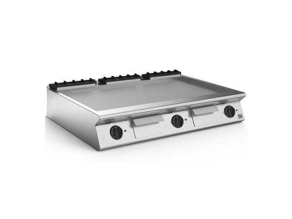 XXLselect 700 HP Elektrische Bakplaat Gladde Geslepen Stalen Plaat | 16,2 kW | 1200x730x(H)250mm