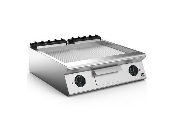 XXLselect 700 HP Elektrische Bakplaat Geribbelde RVS Plaat | 10,8 kW | 800x730x(H)250mm