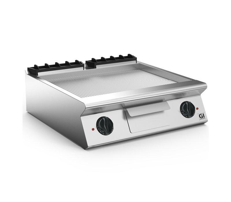 XXLselect 700 HP Elektrische Bakplaat Geribbelde Stalen Plaat | 10,8 kW | 800x730x(H)250mm