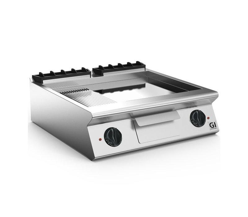 XXLselect 700 HP Elektrische Bakplaat 2/3 Glad 1/3 Geribbelde Verchroomde Plaat | 10,8 kW / 230V-3N | 800x730x(H)250mm