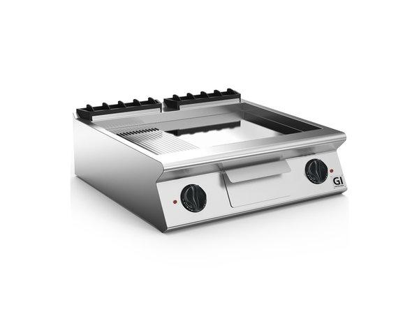 XXLselect 700 HP Elektrische Bakplaat 2/3 Glad 1/3 Geribbelde Verchroomde Plaat | 10,8 kW | 800x730x(H)250mm