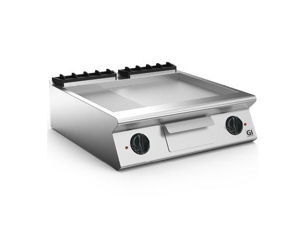 XXLselect 700 HP Elektrische Bakplaat 2/3 Glad 1/3 Geribbelde RVS plaat | 10,8 kW / 230V-3N | 800x730x(H)250mm