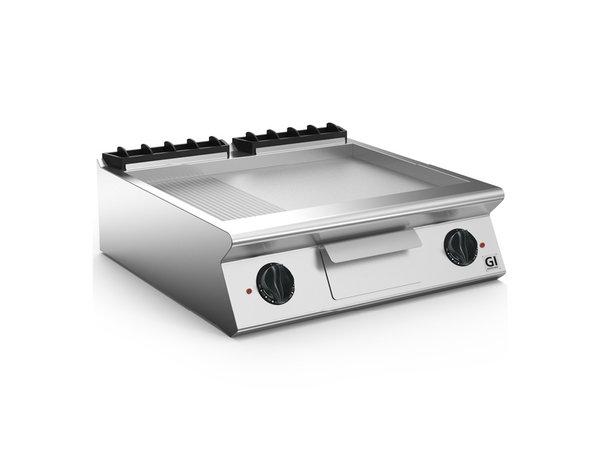 XXLselect 700 HP Elektrische Bakplaat 2/3 Glad 1/3 Geribbelde RVS plaat | 10,8 kW | 800x730x(H)250mm