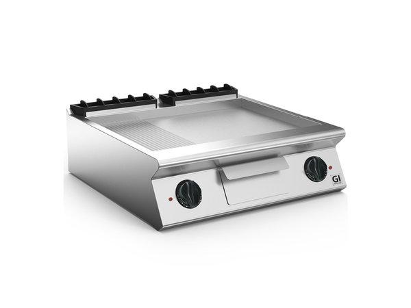 XXLselect 700 HP Elektrische Bakplaat 2/3 Glad 1/3 Geribbelde Geslepen Stalen Plaat | 10,8 kW / 230V-3N | 800x730x(H)250mm