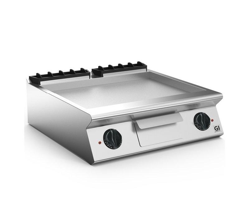 XXLselect 700 HP Elektrische Bakplaat Gladde Geslepen Stalen Plaat | 10,8 kW / 230V-3N | 800x730x(H)250mm