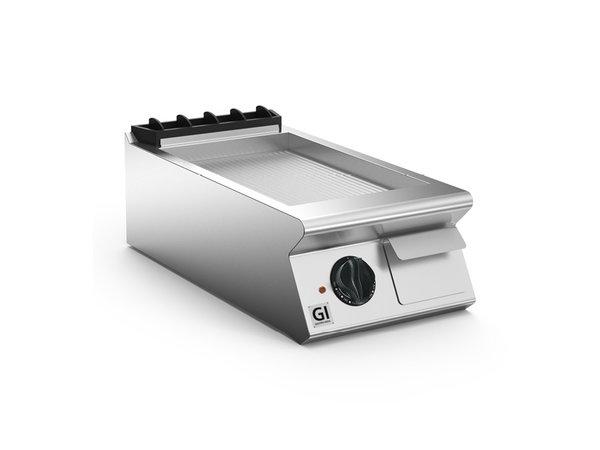 XXLselect 700 HP Elektrische Bakplaat Geribbelde Stalen Plaat | 5,4 kW | 400x730x(H)250mm