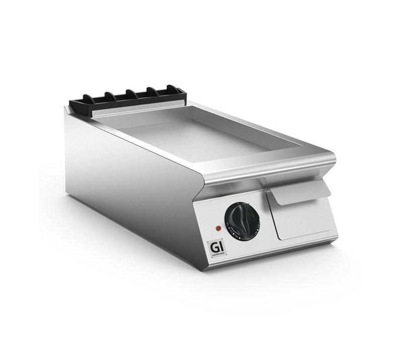 XXLselect 700 HP Elektrische Bakplaat Gladde Geslepen Stalen Plaat | 5,4 kW / 230v-3N | 400x730x(H)250mm