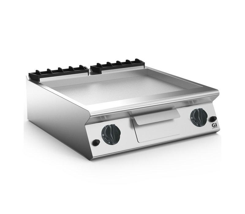 XXLselect 700 HP Gasbakplaat Gladde RVS Plaat | 12 kW | 800x730x(H)250mm