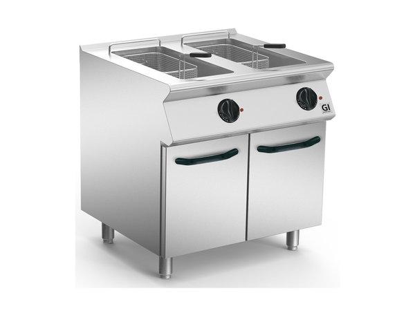 XXLselect 700 HP Elektrische Friteuse 2x15 Liter | Wegklapbaar Element | 2x15 kW / 230V-3N | 800x730x(H)870mm