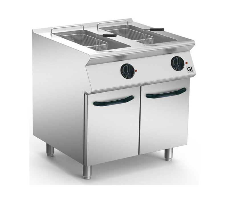 XXLselect 700 HP Elektrische Friteuse 2x15 Liter | Wegklapbaar Element | 2x15 kW | 800x730x(H)870mm