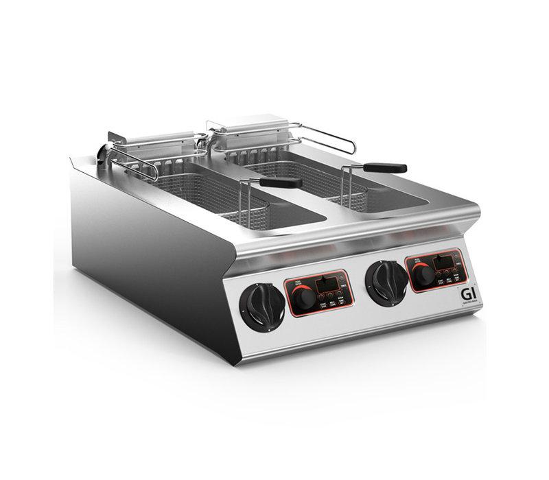 XXLselect 700 HP Elektrische Friteuse 2x 10 Liter | Digitaal | Opklapbaar Element | 2x 9kW | 600x730x(H)250mm