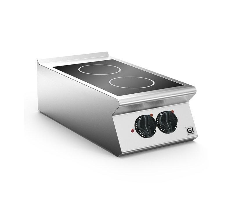 XXLselect 700 HP Keramische Kookplaat | 2 Kookzones | 4 kW | 400x730x(H)250mm