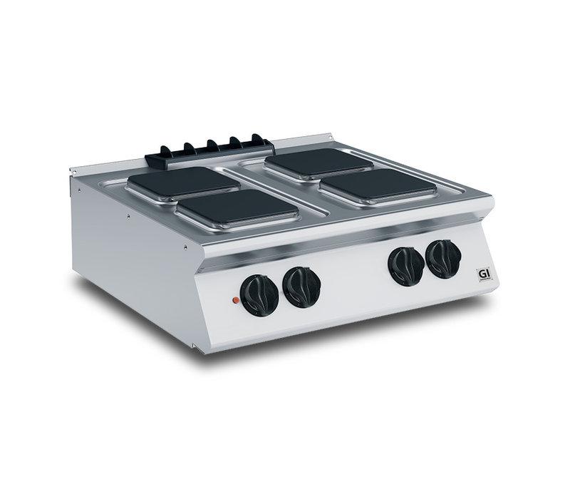XXLselect 700 HP Kooktoestel 4 Vierkante Kookplaten | 10,4 kW | 800x730x(H)250mm