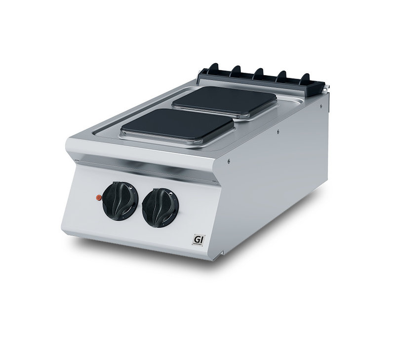 XXLselect 700 HP Kooktoestel 2 Vierkante Kookplaten | 5,2 kW | 400x730x(H)250mm