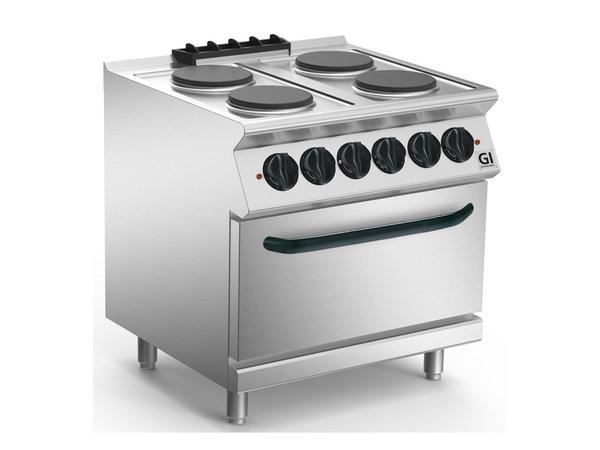 XXLselect 700 HP Kooktoestel 4 Ronde Platen | Elektrische Oven GN2/1 | 16,4 kW / 230V-3N | 800x730x(H)870mm