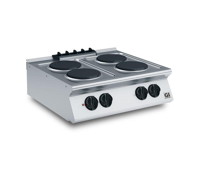 XXLselect 700 HP Kooktoestel 4 Ronde Platen | 10,4 kW | 800x730x(H)250mm