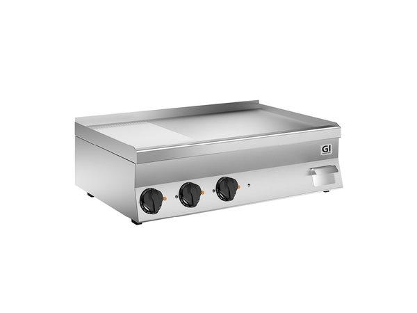 XXLselect 650 HP Elektrische Bakplaat | 2/3 Gladde 1/3 Geribbelde Verchroomde Plaat | 400V 11,7 kW | 1000x600x(H)295mm