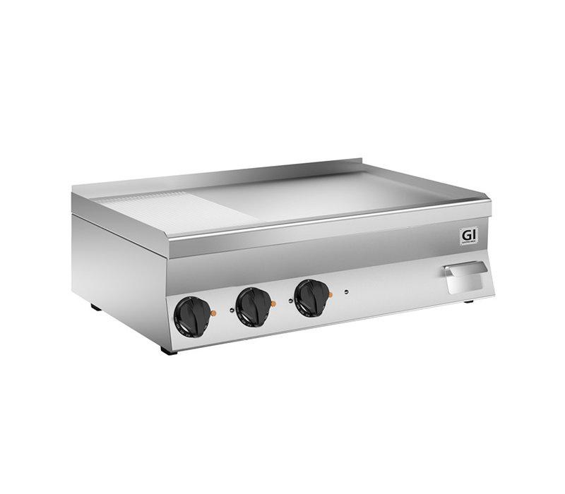 XXLselect 650 HP Elektrische Bakplaat | 2/3 Gladde 1/3 Geribbelde RVS Plaat | 400V 11,7 kW | 1000x600x(H)295mm
