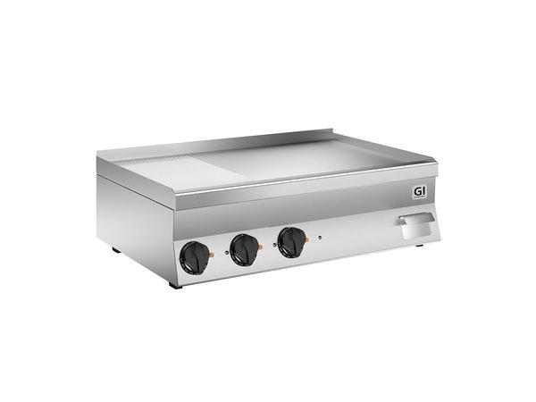 XXLselect 650 HP Elektrische Bakplaat | 2/3 Gladde 1/3 Geribbelde Speciaal Stalen Plaat | 400V 11,7 kW | 1000x600x(H)295mm