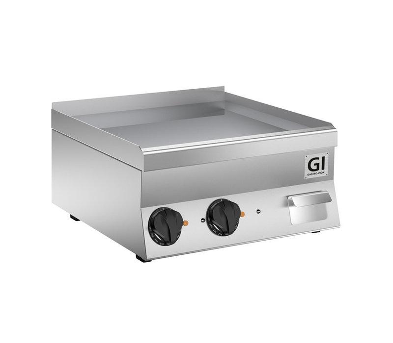 XXLselect 650 HP Elektrische Bakplaat | Gladde RVS Plaat | 2x 230V 7,8 kW | 600x600x(H)295mm