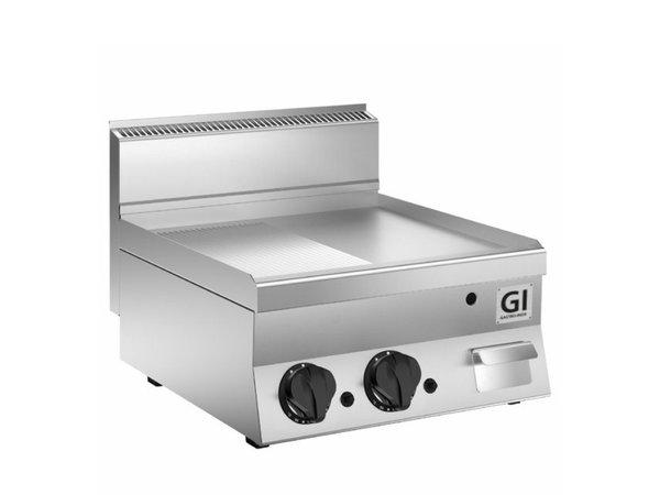 XXLselect 650 HP Gasbakplaat Half Gladde/Geribbelde | Verchroomde Plaat | 12,5 kW | 800x650x(H)295mm