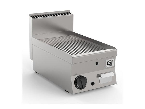 XXLselect 650 HP Gasbakplaat Geribbeld | RVS Plaat | 5 kW | 400x650x(H)295mm