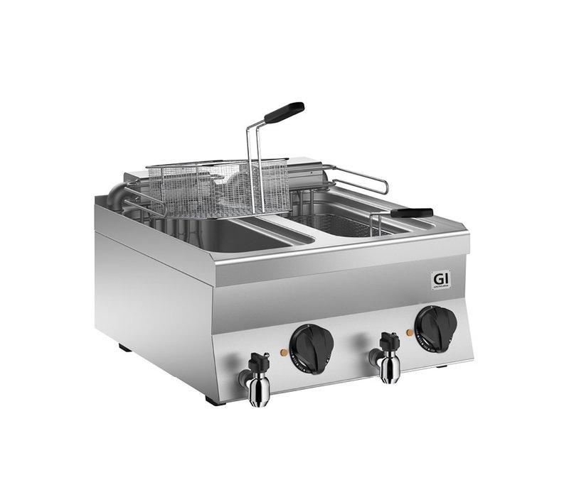 XXLselect 650 HP Elektrische Friteuse Extra 2x 10 Liter | 18 kW| 700x650x(H)295mm