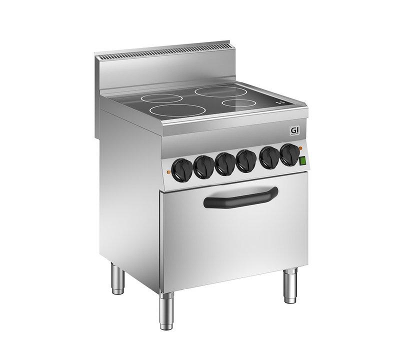 XXLselect 650 HP Keramische Kookplaat |4 Kookzones  + Heteluchtoven 14,2 kW | 700x650x(H)295mm