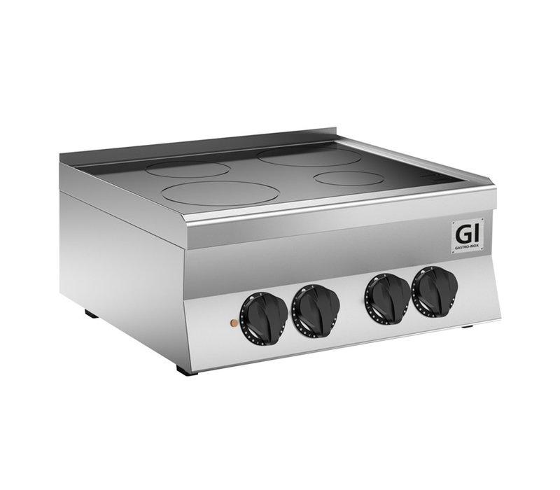 XXLselect 650 HP Keramische Kookplaat   4 Kookzones 8,6 kW   700x650x(H)295mm