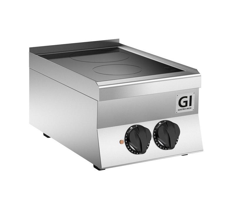 XXLselect 650 HP Keramische kookplaat | 2 Kookzones 4,3 kW | 400x650x(H)295mm